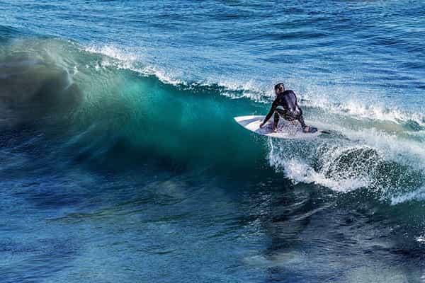 Surfing at Jensen Beach