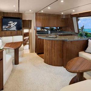 Inside the boat