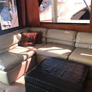 Inside the charter boat